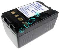 Ersatzakku für Camcorder(digital) PANASONIC NV-RZ 15EG 73,2x46x40,5x0mm CGR-V610 / CGR-V620 / CGR-V14 / CGR-V26 / CGR-V53 Li-Ion EAN 4038338012330 7,2V 3700mAh für Panasonic CGR-V620, anthrazit CONNECT H-Nr.: 102537