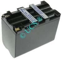 Ersatzakku für Camcorder(digital) HITACHI VM 500H 71,5x38x57x0mm VM-N520 / VM-NP500 Li-Ion EAN 4038338007985 7,2V 6900mAh für Sony NP-F930, anthrazit CONNECT H-Nr.: 102560