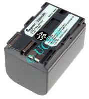 Ersatzakku für Camcorder(digital) CANON MV 600 55,1x38,2x39,9x0mm BP508 / BP511 / BP512 / BP522 / BP535 / P33 / V283 Li-Ion EAN 4038338014280 7,4V 2500mAh für Canon BP-522, anthrazit CONNECT H-Nr.: 108432