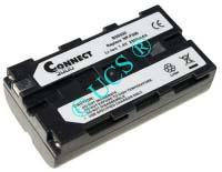 Ersatzakku für Camcorder(digital) HITACHI VM 500H 70,5x38,5x20,3x0mm VM-N520 / VM-NP500 Li-Ion EAN 4038338015256 7,2V 2200mAh für Sony NP-F550, anthrazit CONNECT H-Nr.: 108501