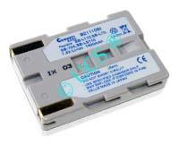 Ersatzakku für Camcorder(digital) SAMSUNG VM-C 630 55,5x38,5x19x0mm SB-L70 / SB-L70A / SB-L110 / SB-L160 / SB-LS110 / SB-L220 Li-Ion EAN 4038338014648 7,4V 1500mAh für Samsung SB-L110, silber CONNECT H-Nr.: 111099