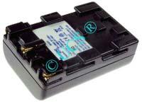 Ersatzakku für Camcorder(digital) SONY DCR-PC 100E 56x38,5x20,5x0mm NP-QM91 / NP-QM71 Li-Ion EAN 4038338021684 7,2V 1100mAh für Sony NP-QM51, antharazit CONNECT H-Nr.: 114397