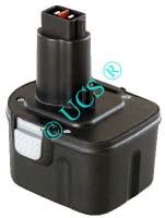 Ersatzakku für Werkzeug BLACK & DECKER KC 2000FK 0x0x0x0mm PS-130 Ni-CD EAN 4041683103035 12V 2000mAh Werkzeugakku Black&Decker/ DEWALT / ELU AKKU POWER H-Nr.:P303