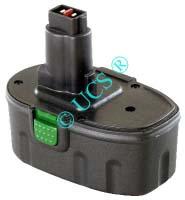 Ersatzakku für Werkzeug BERNER BACIW 85310 0x0x0x0mm 44583 Ni-CD EAN 4041683103141 18V 2400mAh Werkzeugakku Dewalt / Elu / B&D AKKU POWER H-Nr.:P314