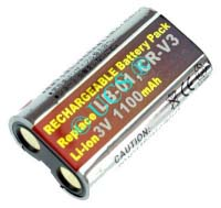 Ersatzakku für Digitalkamera MINOLTA DIMAGE E323 51,9x38,4x14,2x0mm CR-V3 / CR-V3P / LB-01 / SBP-1103 Li-Ion EAN 4038338021004 3V 1100mAh für RCR-V3 rechargeable CONNECT H-Nr.: 115488