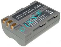 Ersatzakku für Digitalkamera NIKON D 70 0x0x0x0mm EN-EL3E Li-Ion EAN 4008358000853 7,4V 1600mAh für Nikon EN-EL3e CONNECT H-Nr.: 123851